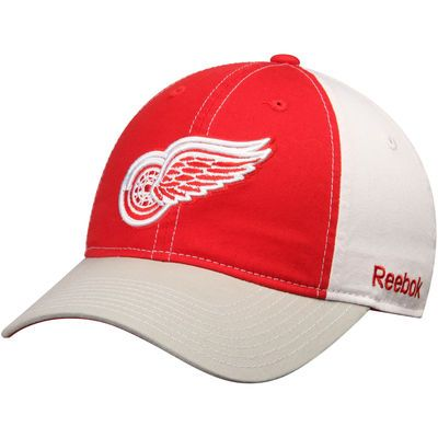 Detroit Red Wings Reebok Face Off Slouch Adjustable Hat - Red/Gray