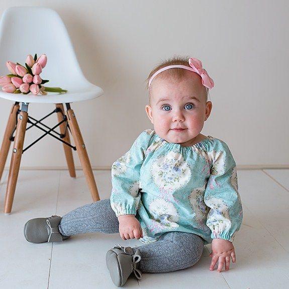"""Mint Cameo"" Long Sleeve Romper Sizes 0000-2 | Twinkle Star | madeit.com.au"