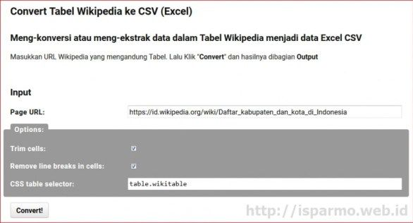 Convert wikipedia tabel to CSV Excel  #internetmarketing #wikipedia