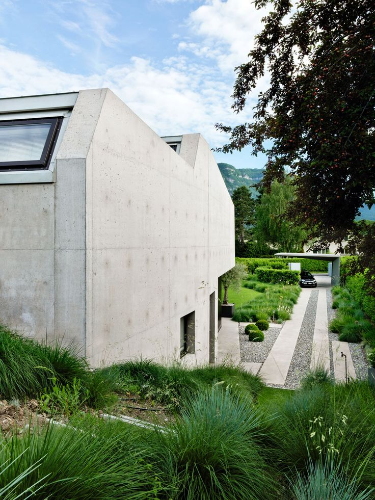 2LB House by Raphaël Nussbaumer Architectes , landscape by Pascal Heyraud