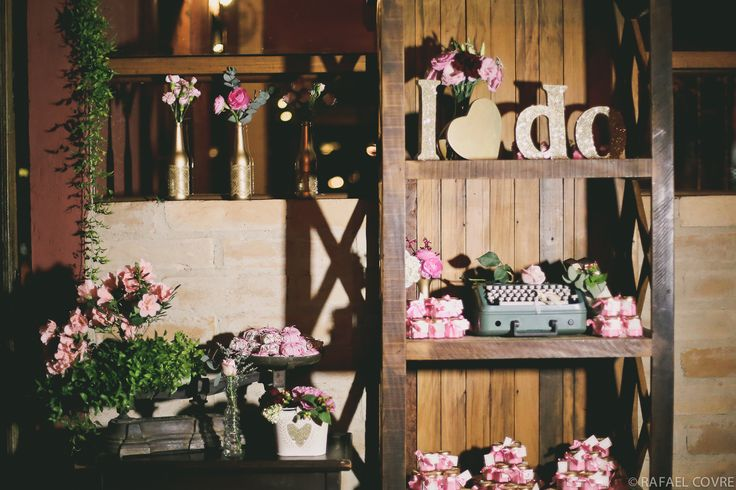 shabby chic + pink and gold + wedding