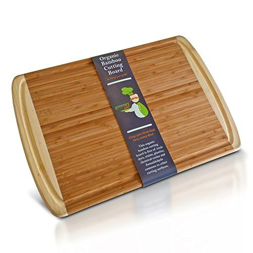 ORGANIC Bamboo Cutting Board Natural Wood Party Serving Tray And Turkey Platter with Juice Drip Groove - Extra Large 18 X 12.5 - Greener Chef Greener Chef http://smile.amazon.com/dp/B00MW8NBW2/ref=cm_sw_r_pi_dp_U7DOvb1GKGE1G
