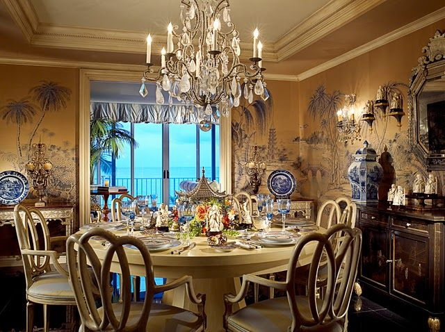 Decorating With Blue And White China: 211 Best Images About Dining Rooms & Breakfast Areas On