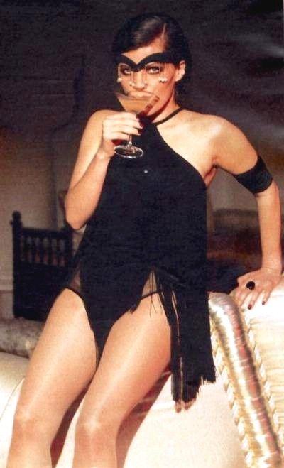 sexy / almost 'flapper girl' dress / German Television presenter Birgit Schrowange