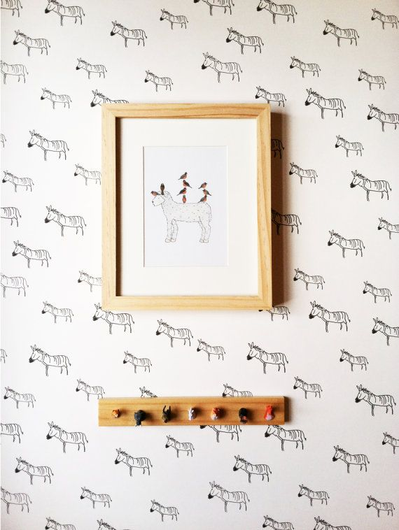 Removable Wallpaper // Zebra Print // door KateZarembaCompany