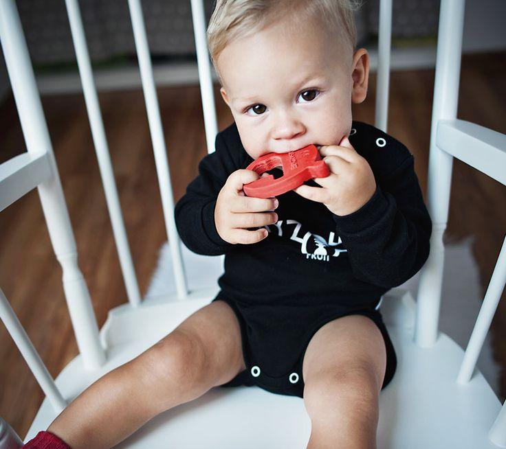 Gryzak MR B z naturalnego kauczuku | Natural rubber teether MRB hevea  #lullalove #teether #wood #eco-friendly #hevea #naturalrubber #mrb #supertoy #babyshower #gift
