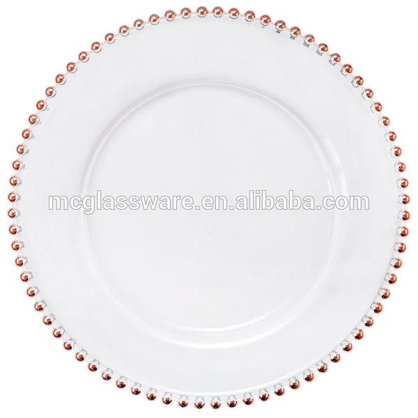 Source Cheap Wedding Rose Gold Charger Plate On Malibaba