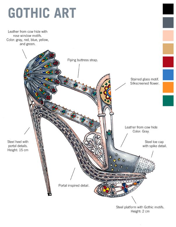 Learn Art History Through 10 Stunning Pairs Of High Fashion Heels. The Celtic shoes!