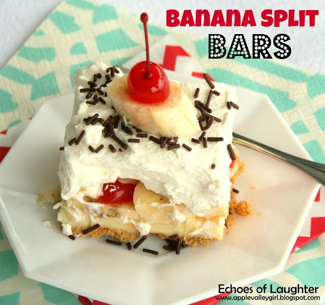 We are totally bananas for these banana split bars.