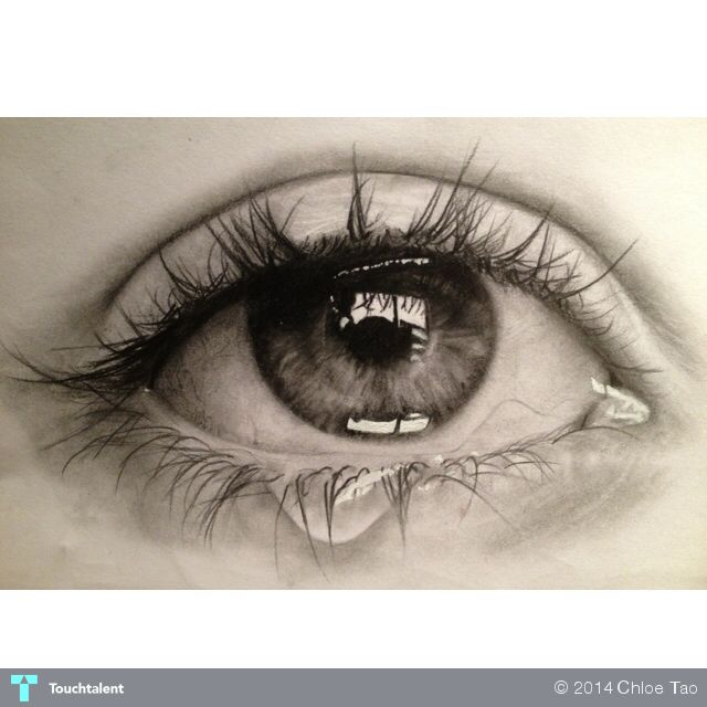 Pencil%20drawing%20of%20crying%20eye%20%20#Art #Touchtalent
