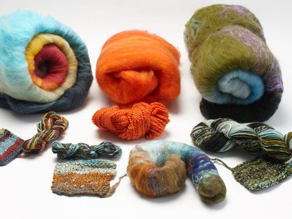 Learn how to spin these rolled up jewels of fiber: batts! Advice for spinning both silky smooth and wildly textured yarn.