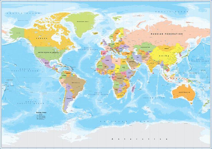 Παγκόσμιος Χάρτης τοίχου 4S http://www.printcenter.com.gr/xartes.html