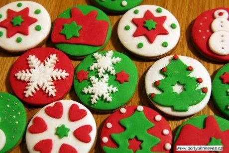 Dorty Uhříněves - Fotoalbum - Zdobené sušenky - Vánoční zdobení / Christmas cookies