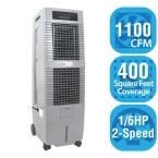 1,100 CFM 2-Speed Portable Evaporative Cooler for 400 sq. ft, Gray
