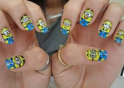 Meus malvados favoritos: Beauty Makeup Nails, Nail Designs, Minions Nail, Art Designs, Nail Art Ideas, Minion Nails, Ideas Designs, Minion Nail Art