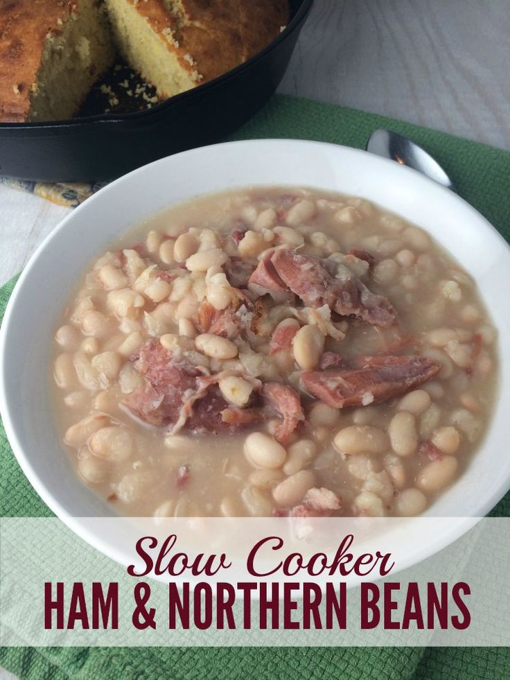 For so many years, I served my family baked ham dinners and threw away the hambone. Now I'm kicking myself. To think I could've been serving up Slow Cooker Ham and Northern Beans all this time! Great Fall recipe!