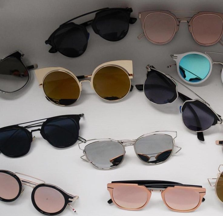 Fashion Trend Der Sonnenbrille Trendy Grau / Gold OUR7Cm ...