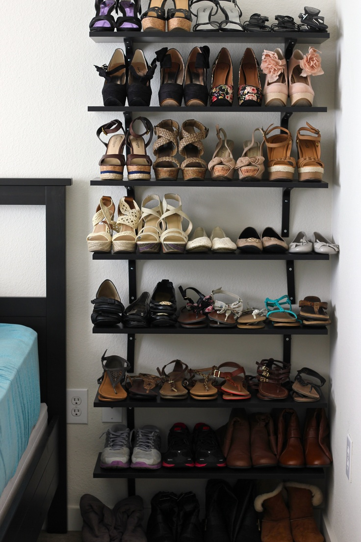 shoe shelf with Ikea shelves | Sko | Pinterest | Ikea ...