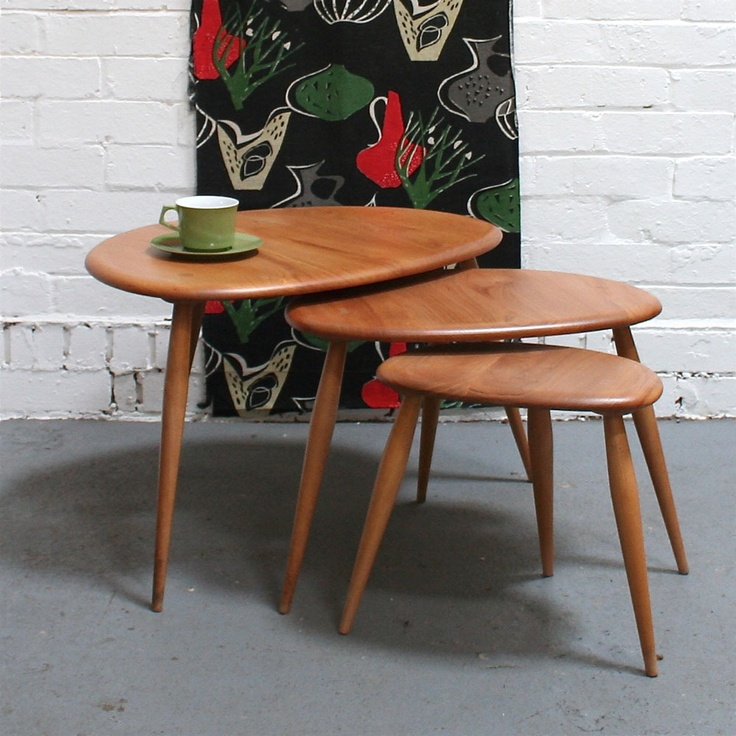 Vintage ercol pebble tables furniture pinterest for Couch 0 interest