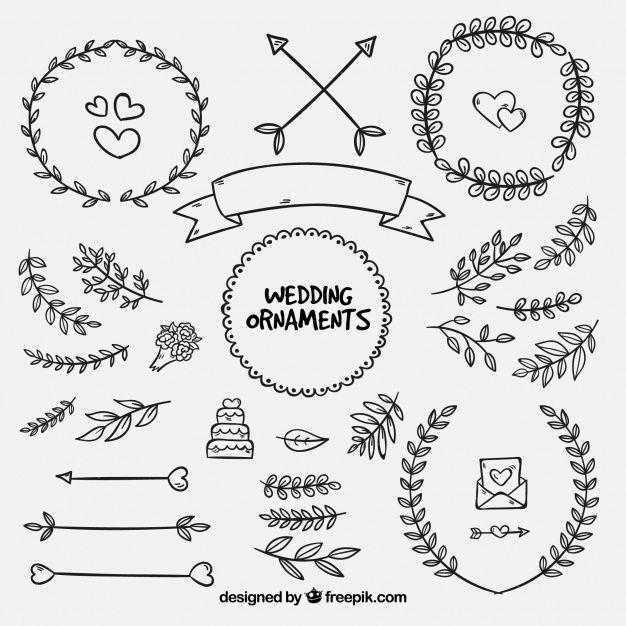 Download Hand Drawn Wedding Ornaments Collection For Free Hand Drawn Wedding Vector Free How To Draw Hands
