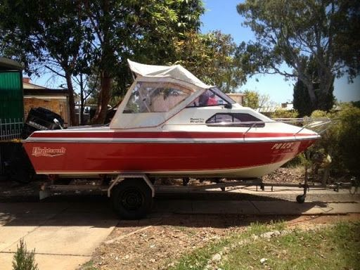 """1986 Flightcraft Recreation/Fishing Boat ???? Sports profile half cabin, some minor scratches, wear & tear, well maintained & cleaned.  18f / 5.4m 115 hp Mercury Motor, Runs well, No issuses. Main fuel tank & reserve tank. GPS / Fish Finder. Near new Marine Radio/CD player/USB & Memory card slots. Two way Radio. Alloy bait board. Ski pole. Trailer with Electric winch in good condition with near new 15"""" light truck tyres. Few Accessories included. ????  $15,000 ono.  ????"""