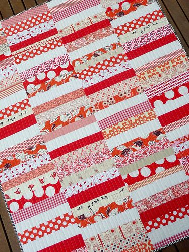 Red and white coin quiltRed And White, Red Peppers, Quilt Design, White Coins, White Quilt, Peppers Quilt, Coins Quilt, Baby Quilt, Quilt Pattern