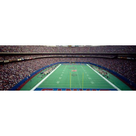 Spectators watching a football match in a stadium Giants Stadium East Rutherford Bergen County New Jersey USA Canvas Art - Panoramic Images (6 x 18)