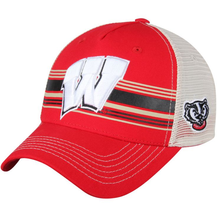 Wisconsin Badgers Top of the World Sunrise Trucker Adjustable Hat - Red/White
