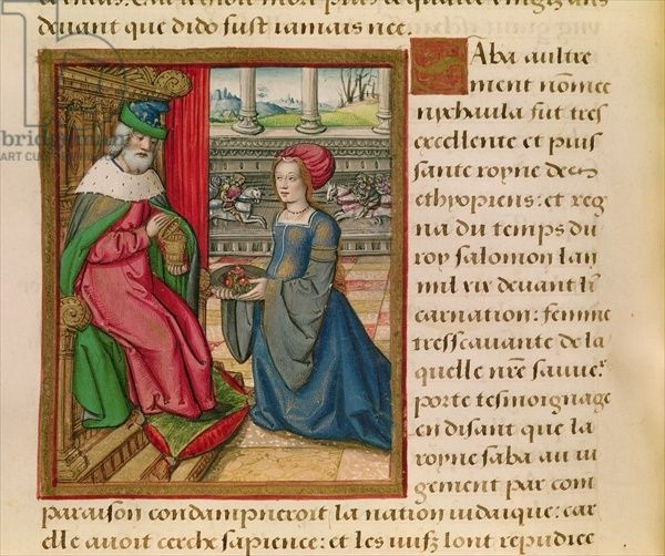 Ms 17 The Queen of Sheba, from 'Vie des Femmes Celebres', c.1505 (vellum) by French School, (16th century)