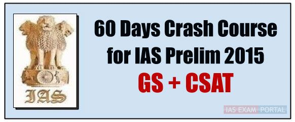 60 Days Online Crash Course for Civil Services PRE Exam by UPSC