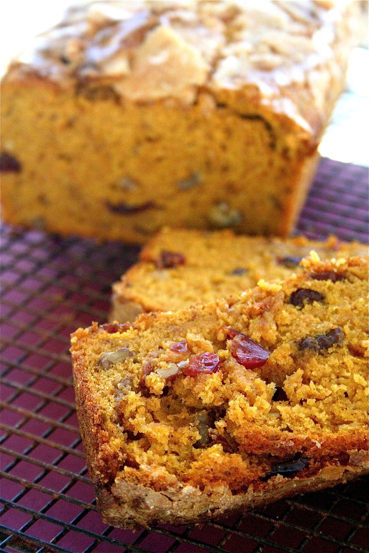 Pumpkin Cranberry Walnut Bread....I feel like mom used to make this!