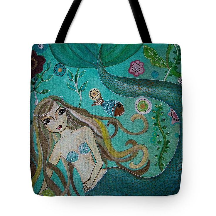 Under The Sea Tote Bag by Pristine Cartera Turkus.  The tote bag is machine washable, available in three different sizes, and includes a black strap for easy carrying on your shoulder.  All totes are available for worldwide shipping and include a money-back guarantee.