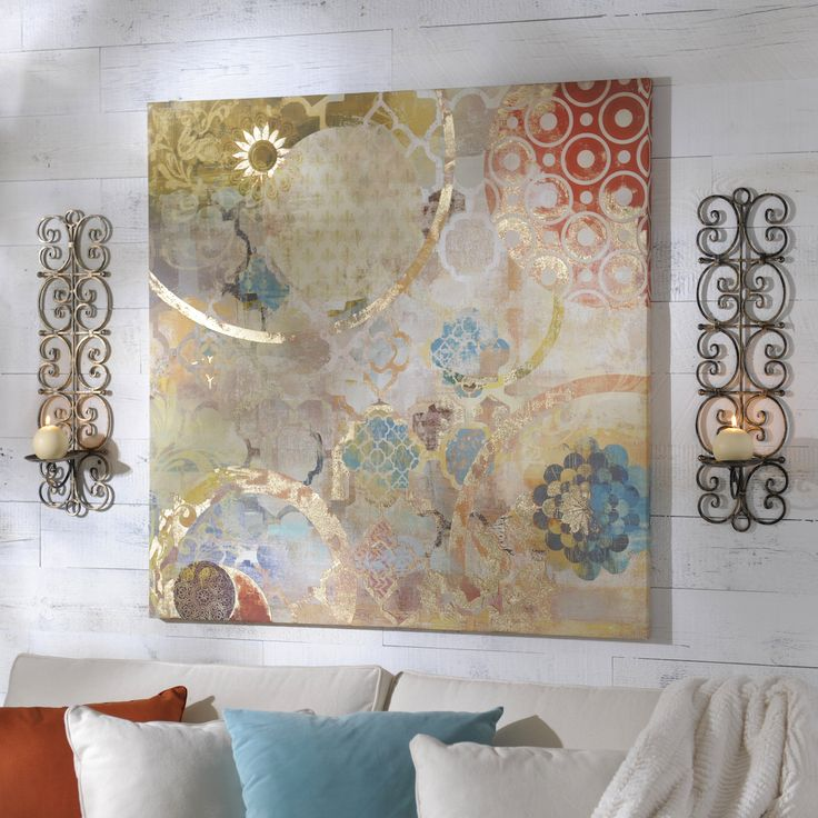 The Festival Canvas Art Print Exudes Bohemian Chic Flair. Give Your Wall  Décor A Touch Of Eclectic Elegance With This Colorful, Abstract Print!
