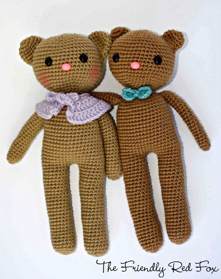 The Friendly Red Fox: Crochet Amigurumi Bear Pattern