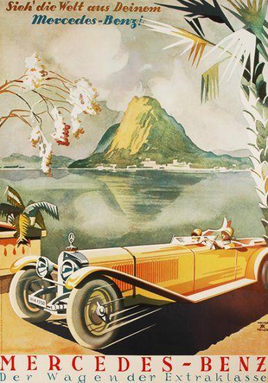 Die 101 besten bilder zu mercedes benz posters auf pinterest for Vintage mercedes benz posters