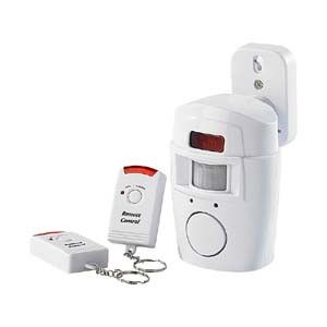 Home Office Wireless Infrared Motion Detector Safety Security Alarm plus Remote