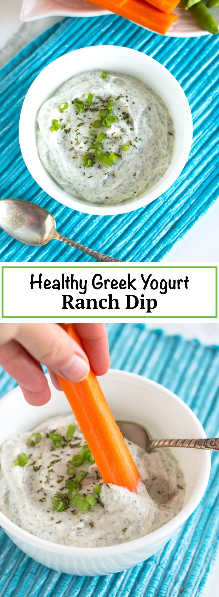 Healthy Ranch Dip | nourishedtheblog.com | An easy to make dip perfect for dipping those veggies! Made with greek yogurt and pantry spices for a super easy snack made in just minutes that's naturally gluten free and vegetarian friendly.