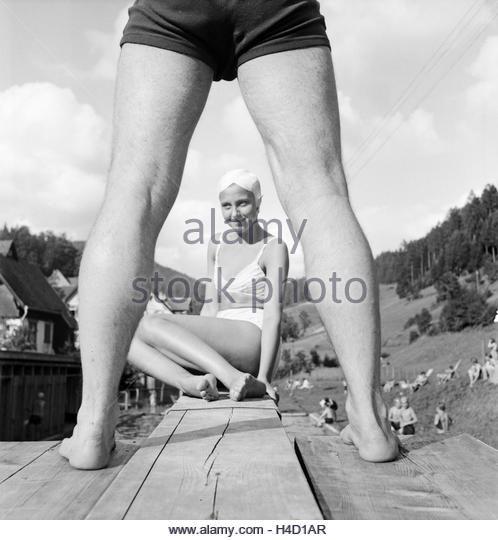 Ein Ausflug nach Bad Rippoldsau Schapbach, Deutsches Reich 1930er Jahre. A trip to Bad Rippoldsau Schapbach, Germany - Stock Image