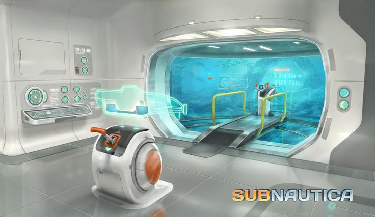 interior concept for the cyclops submarine, i like the way that the scheme of the interior has a clean and utilitarian theme. the large observation window at the bridge of the craft shows a vast and unobstructed view of what is in front of the craft.