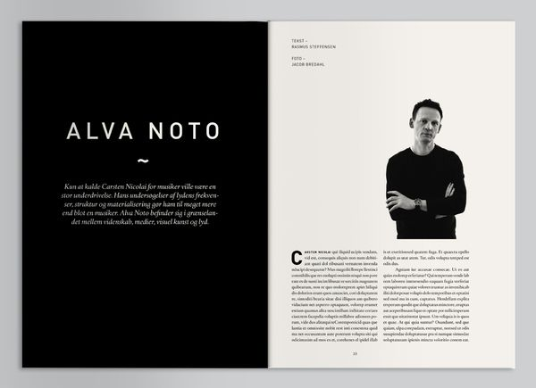 Magazine Layout Inspiration 37 - asymmetry