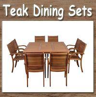 Amazonia Arizona 9-Piece Eucalyptus Square Dining Set