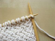 Point de tricot étrange
