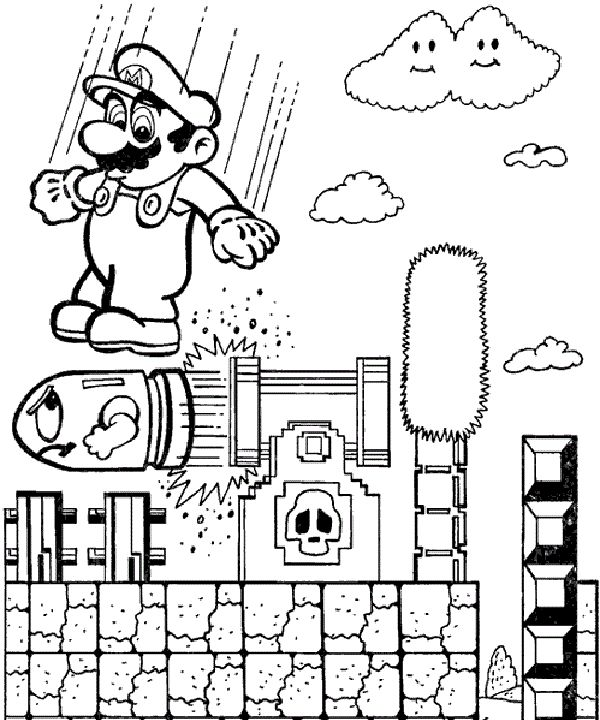 coloring pages mario games - photo #7