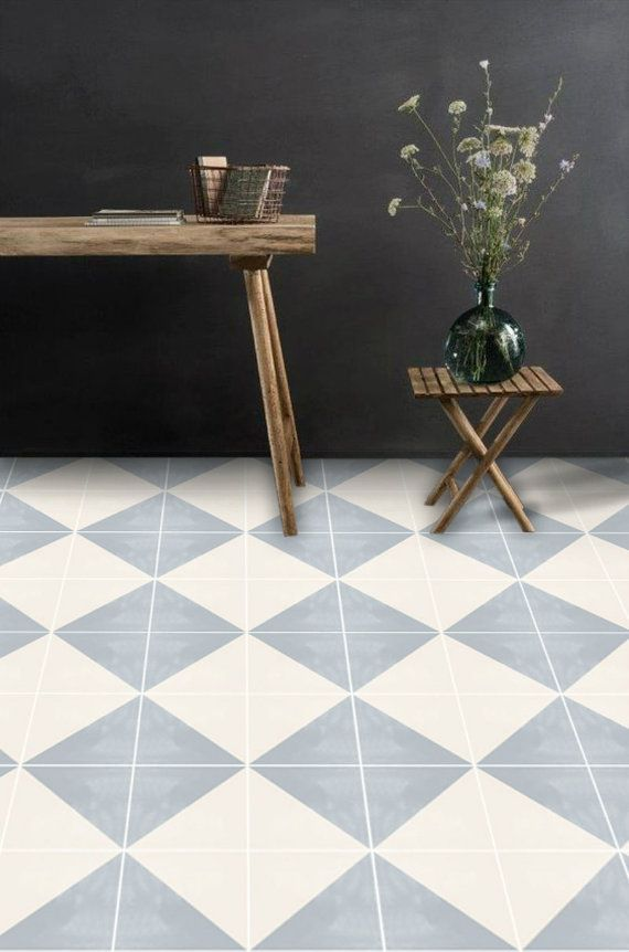 Vinyl floor tile sticker floor decals carreaux ciment encaustic oslo tile