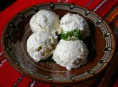 creamy and cheesy Bulgarian katak , homemade from sheep cheese