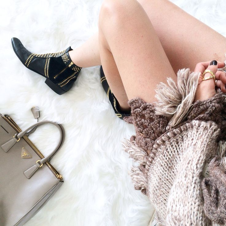 Knits and kicks #fwis #aninebing #fashionblogger #fifideluxe #fashion #knitwear #boots