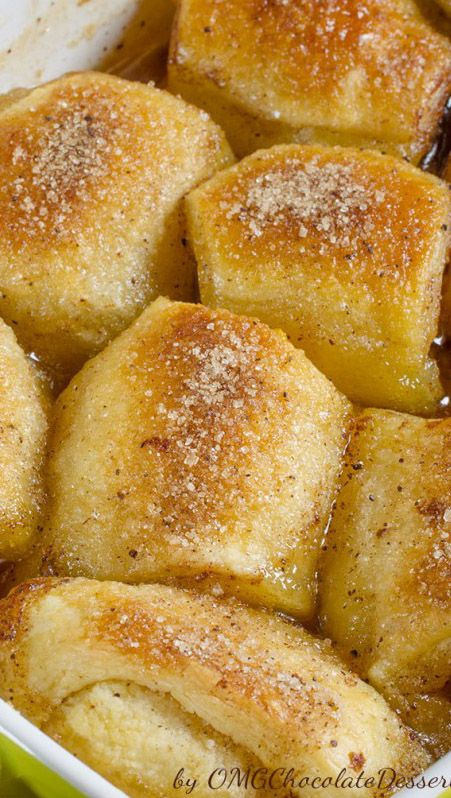 Peach Dumplings...or any fruit dumplings.  These look delicious and got very good reviews