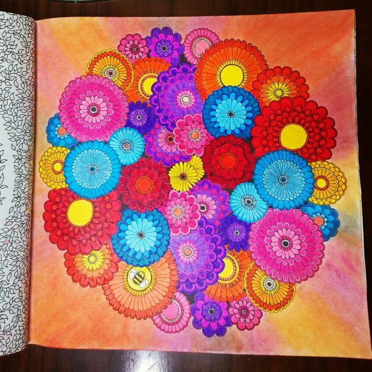 Revision  Johanna Basford Secret Garden, Esrarengiz bahçe, boyama, flowers, monami, Faber Castell, fun bucket, soft pastel