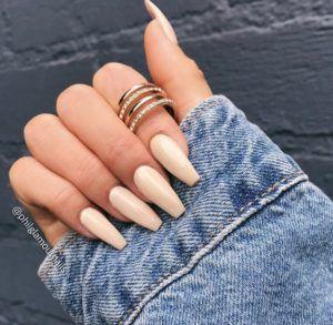 Beige Nails