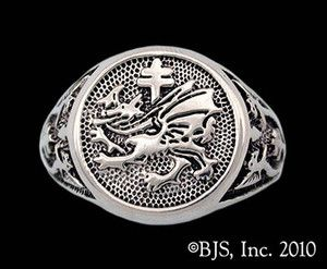 Dracula's Order of the Dragon Signet Ring, Silver, New, Vlad Tepes, Your Size